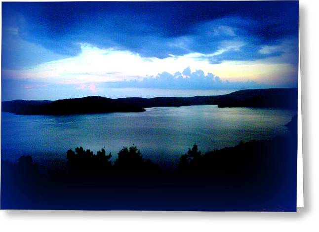 Lake Meditation Greeting Card by Lesli Sherwin