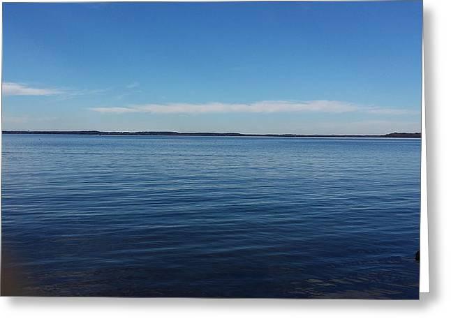Lake Mendota Greeting Cards - Lake Mendota  Greeting Card by Nancy Sanchez