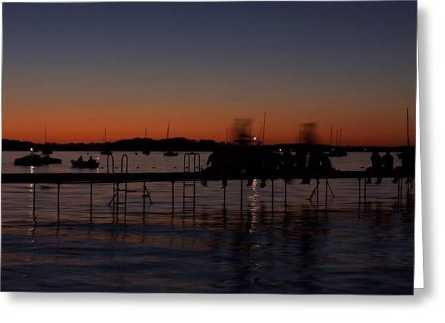Lake Mendota Greeting Cards - Lake Mendota Sunset Greeting Card by Adam Schwartz