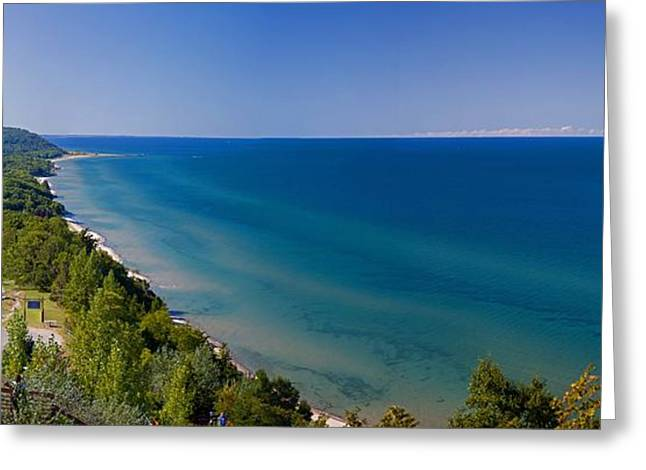 Arcadia Greeting Cards - Lake Michigan from Arcadia Overlook Greeting Card by Twenty Two North Photography