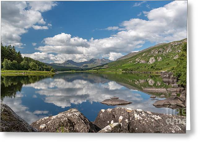 Lake Mymbyr Rocks Greeting Card by Adrian Evans