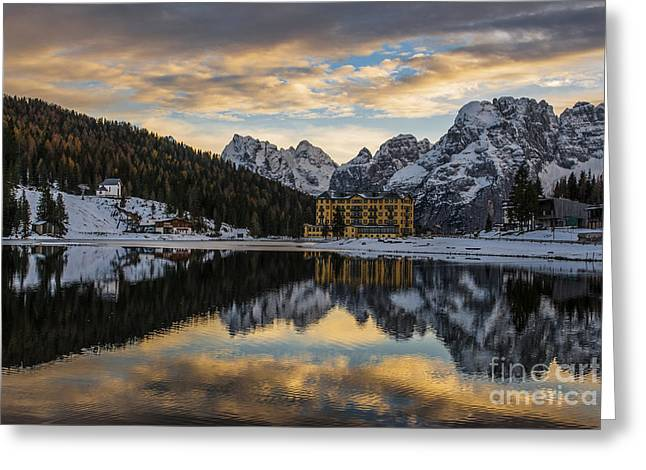 Alps Greeting Cards - Lake of Misurina Greeting Card by Yuri Santin
