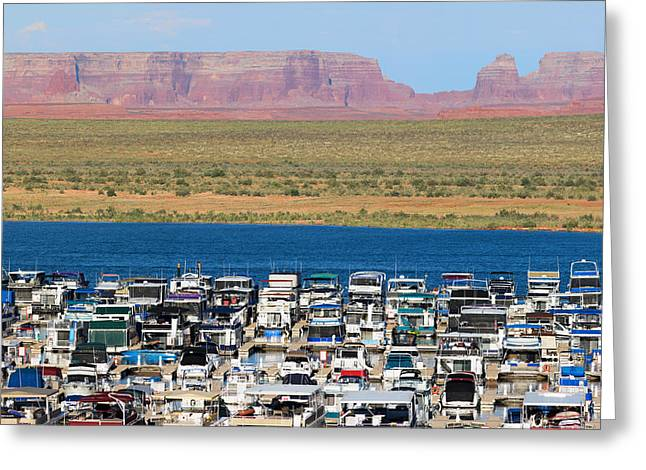Canyon Country Greeting Cards - Lake Powell Arizona Greeting Card by Carl Amoth
