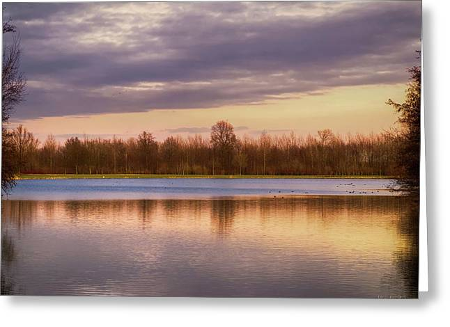 Lake Reflection Greeting Card by Wim Lanclus