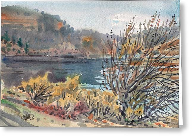 Lake Paintings Greeting Cards - Lake Roosevelt Greeting Card by Donald Maier