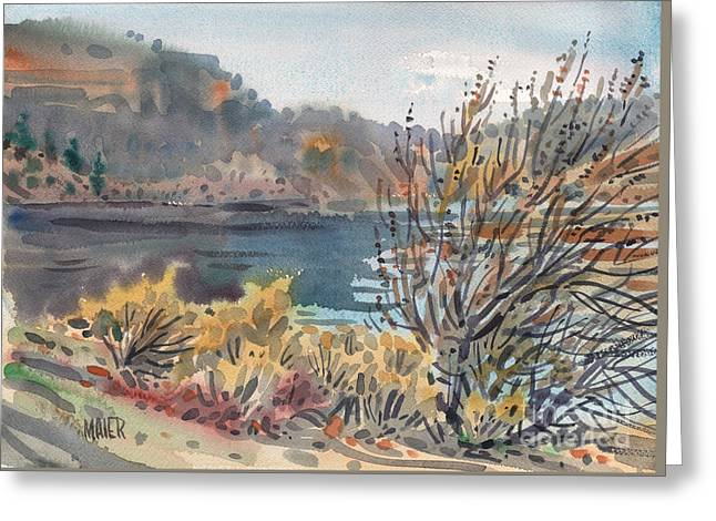 Lake Roosevelt Greeting Card by Donald Maier