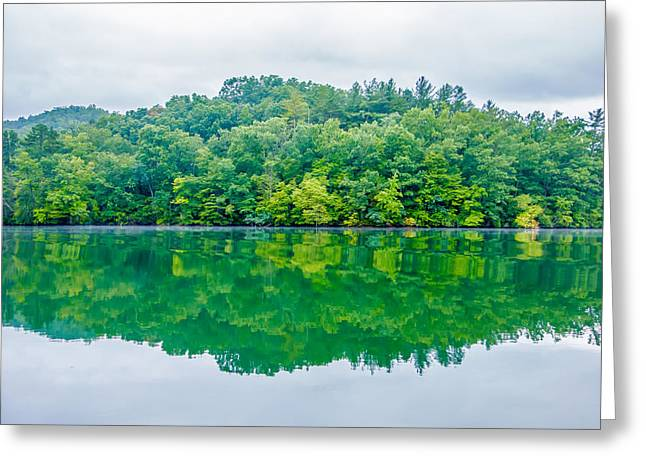 Beautiful Scenery Greeting Cards - Lake Santeetlah Scenery In Great Smoky Mountains Greeting Card by Alexandr Grichenko
