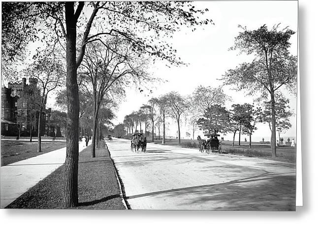 Lake Shore Drive - Chicago 1905 Greeting Card by Daniel Hagerman