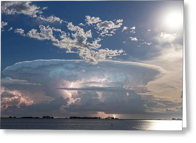 Morgan County Greeting Cards - Lake Side Storm Watching Greeting Card by James BO  Insogna