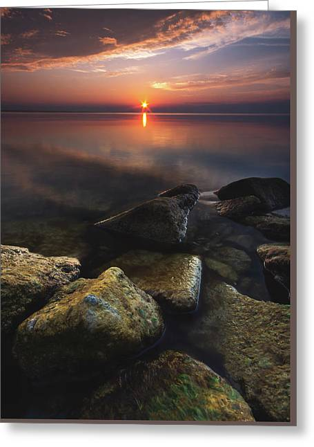 Lake St. Clair Sunstar Greeting Card by Cale Best