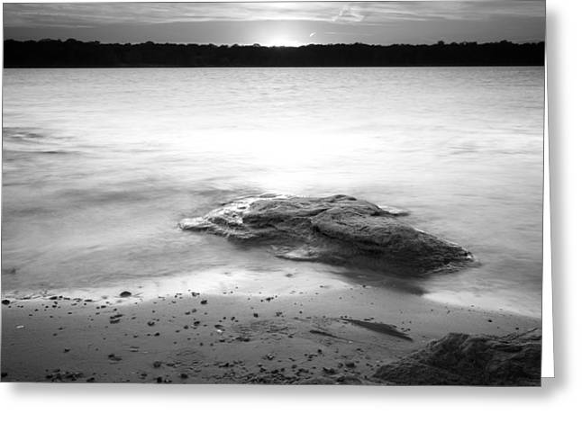 Sunset Prints Greeting Cards - Lake Sunset IX Greeting Card by Ricky Barnard