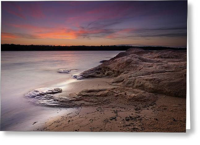 Sunset Prints Greeting Cards - Lake Sunset X Greeting Card by Ricky Barnard