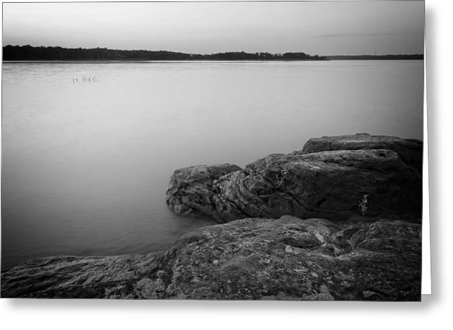 Sunset Prints Greeting Cards - Lake Sunset XI Greeting Card by Ricky Barnard