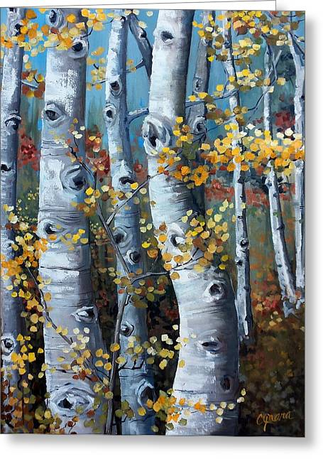 Aspen Grove Greeting Cards - Lake Tahoe Aspens Greeting Card by Cynara Shelton