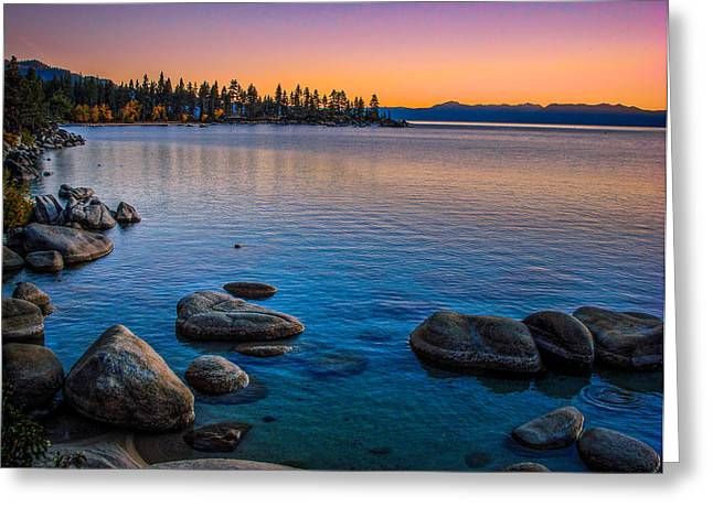 Granite Greeting Cards - Lake Tahoe State Park Fall Sunset Greeting Card by Scott McGuire