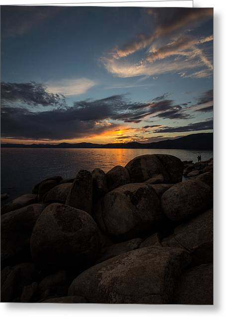 Sunset Greeting Cards Greeting Cards - Lake Tahoe Sunset Greeting Card by Cindy Lee Galyean