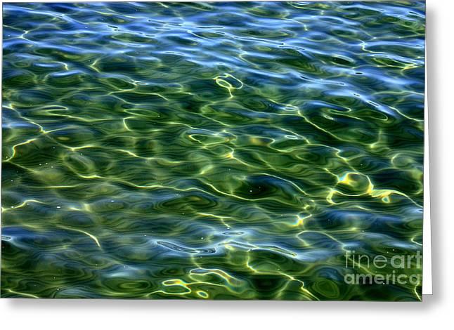Ripples In Water Greeting Cards - Lake Tahoe Swirls Greeting Card by Carol Groenen