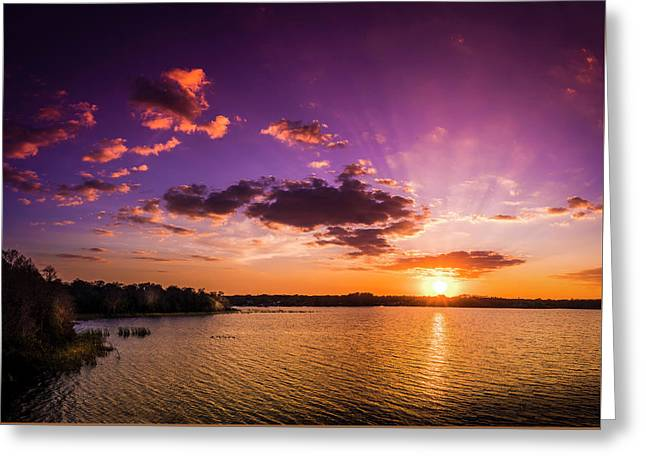 Lake Tarpon Sunset Greeting Card by Marvin Spates