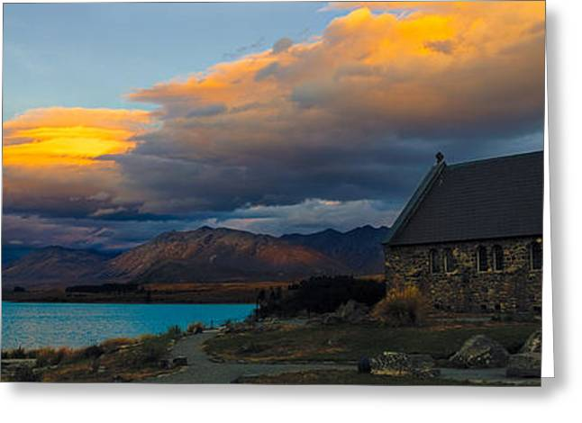 Deutschland Greeting Cards - Lake Tekapo Panorama Greeting Card by Andre Distel