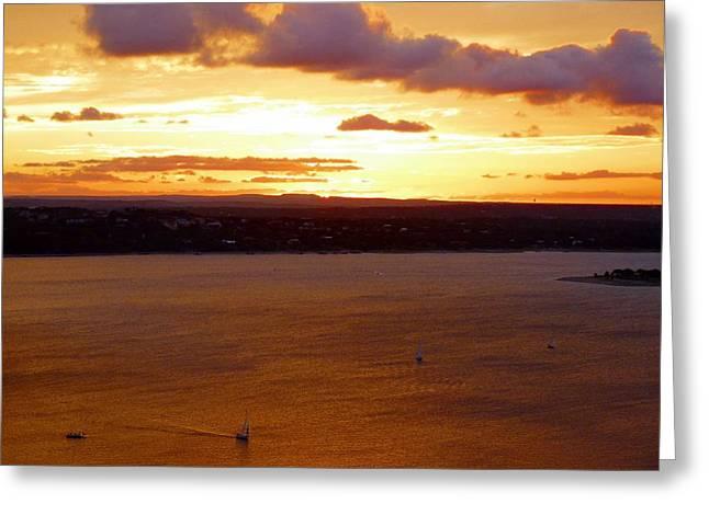 Island .oasis Greeting Cards - Lake Travis Sunset Greeting Card by Tim Mattox