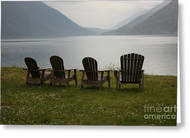 Lake View Greeting Card by Carol Groenen