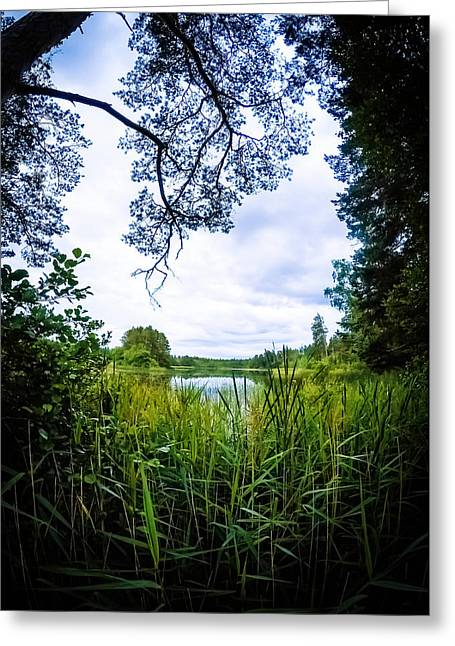 Sweden Greeting Cards - Lake View Greeting Card by Nicklas Gustafsson
