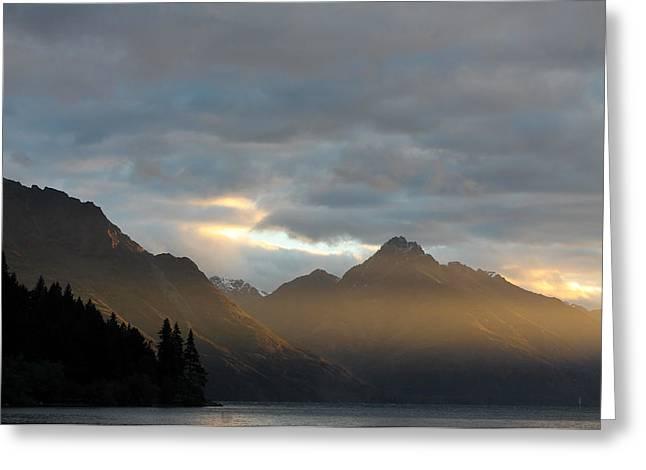 Aotearoa Greeting Cards - Lake Wakatipu Greeting Card by Heather Raeburn
