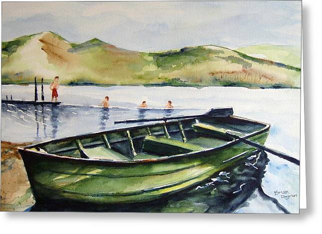 Boats At Dock Greeting Cards - Lake Whitingham Greeting Card by Brian Degnon
