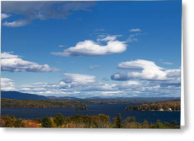 Lake Photography Greeting Cards - Lake Winnipesaukee New Hampshire in Autumn Greeting Card by Stephanie McDowell