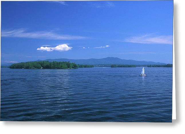 Lake Winnipesaukee Summer Day Greeting Card by John Burk