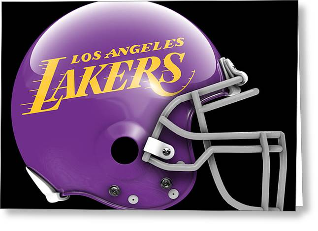 Lakers What If Its Football Greeting Card by Joe Hamilton
