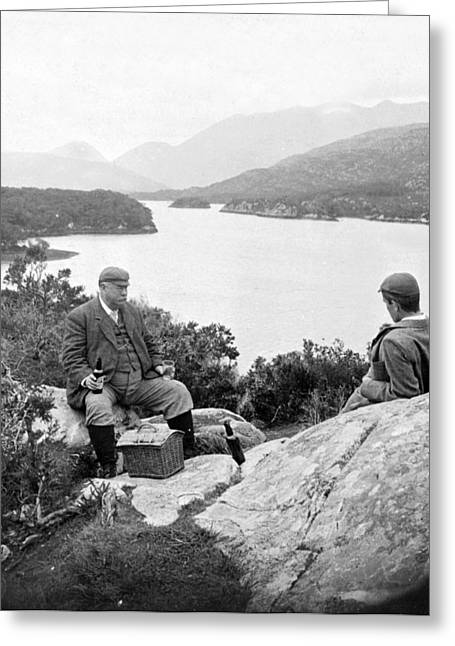 Enjoying Greeting Cards - Lakes of Killarney - Ireland - c 1896 Greeting Card by International  Images