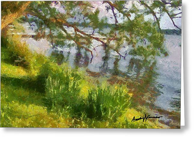 Lakeshore Greeting Card by Anthony Caruso
