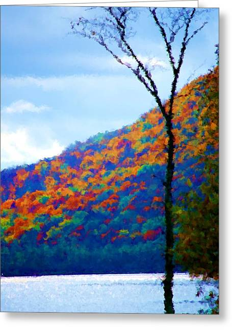 Digital Photographs Greeting Cards - Lakeside Greeting Card by David Lane