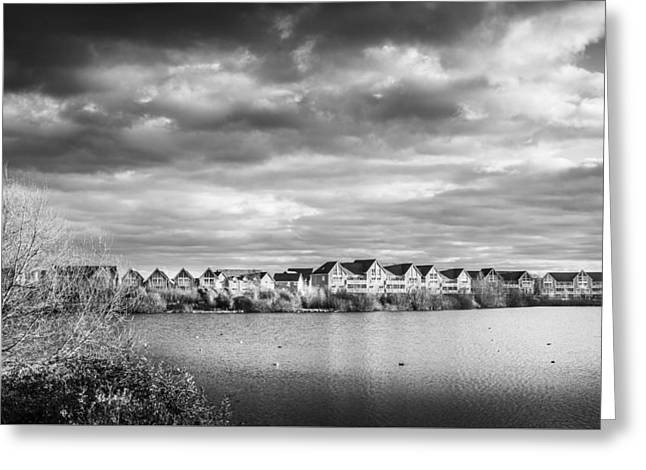 Lake House Greeting Cards - Lakeside Houses Greeting Card by Gary Gillette