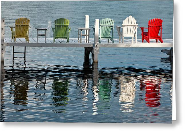 Lifestyle Photographs Greeting Cards - Lakeside Living Greeting Card by Steve Gadomski