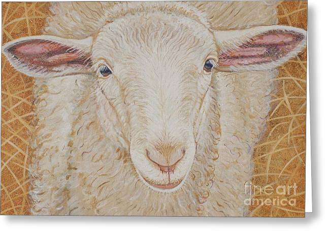 Christine Belt Greeting Cards - Lamb of God Greeting Card by Christine Belt