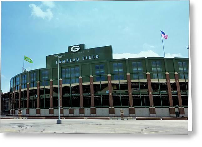 Lambeau Field - Green Bay Packers Greeting Card by Daniel Hagerman