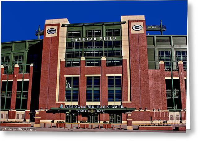 Lambeau Field Greeting Cards - Lambeau Field Green Bay Packers Greeting Card by Tommy Anderson