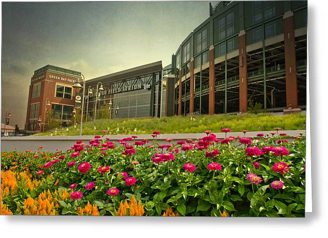 Lambeau Field Photographs Greeting Cards - Lambeau Field in Summer Greeting Card by Joel Witmeyer