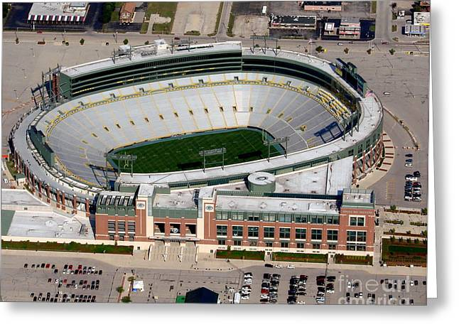 Lambeau Field Greeting Cards - Lambeau Field to North Greeting Card by Bill Lang