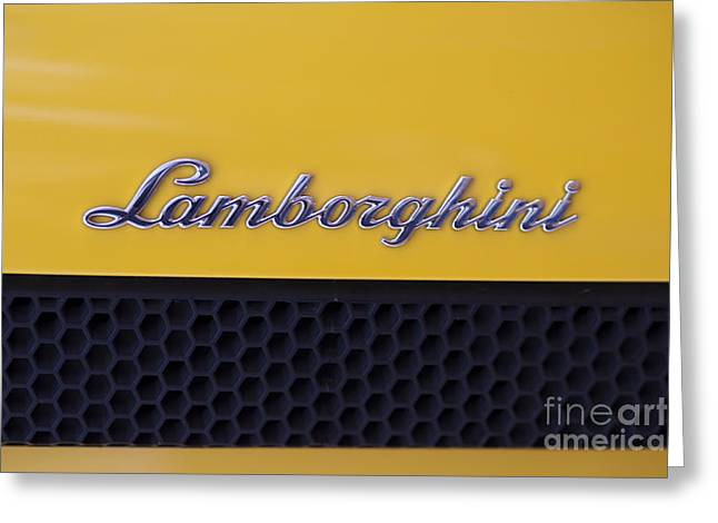 Lamborghini Greeting Card by Andre Goncalves