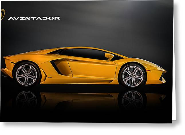 Auto Greeting Cards - Lamborghini Aventador Greeting Card by Douglas Pittman
