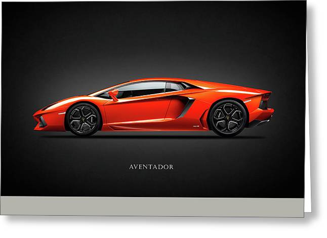 Lamborghini Aventador Greeting Card by Mark Rogan