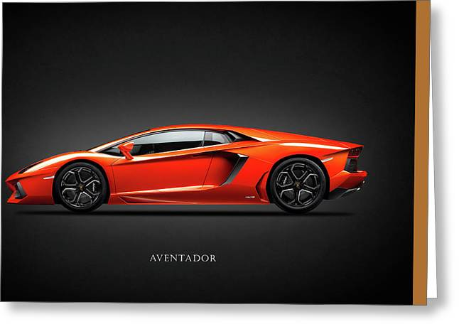 Transport Greeting Cards - Lamborghini Aventador Greeting Card by Mark Rogan