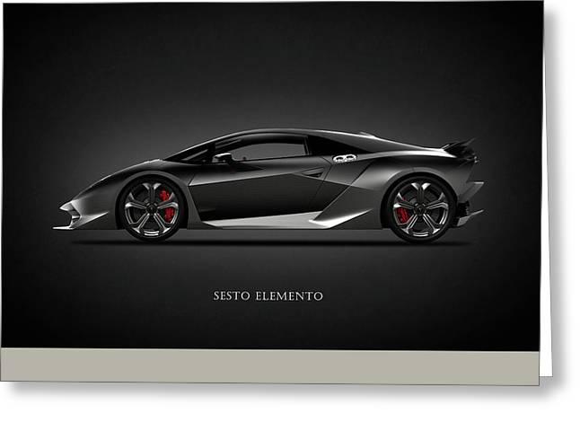 Lamborghini Sesto Elemento Greeting Card by Mark Rogan