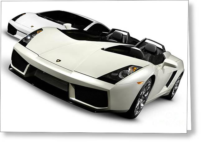 Auto Show Greeting Cards - Lamborghini Super Cars Greeting Card by Oleksiy Maksymenko