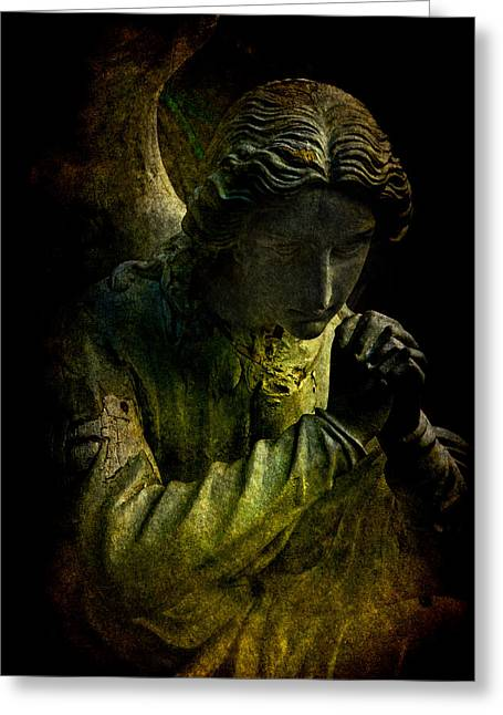 Guardian Angel Digital Greeting Cards - Lament of the Tomb Guardian Greeting Card by Chris Lord