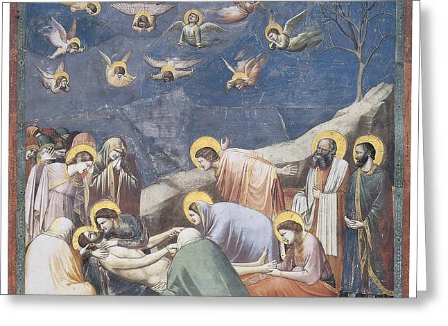 Bondone Greeting Cards - Lamentation Greeting Card by Giotto Di Bondone