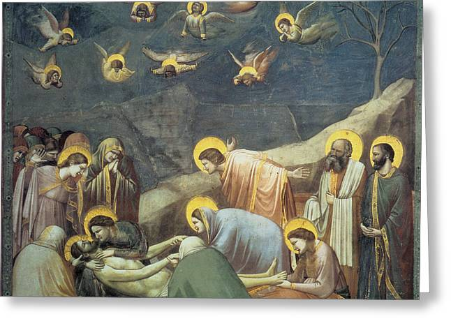 Lamentation Of Christ Greeting Card by Giotto
